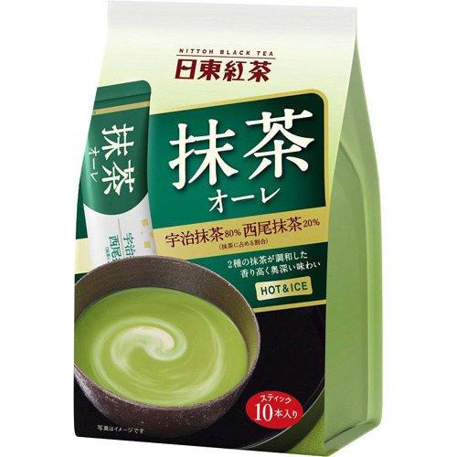 Nittoh Bkack Tea Instant Matcha Au Lait (Matcha Milk Tea) 12gx10sticksx3p