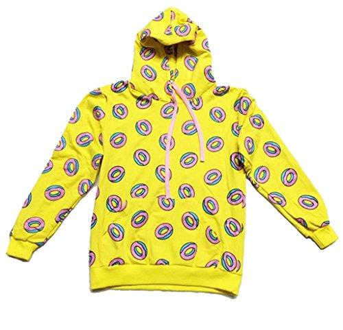 GOT7 Mark Cap Hoodie Cute Donut Unisex Sweatershirt XXL Yellow