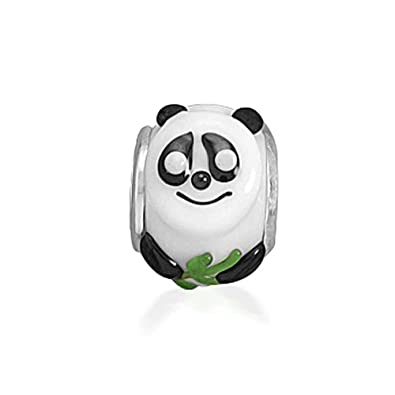 5311baa70ac Bling Jewelry Sterling Silver Panda Bear Glass Animal Bead Charm:  Amazon.co.uk: Jewellery