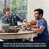 ANTOP Amplified Indoor AM FM Antenna, 50 Mile Radio