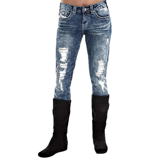 BIRAN Pantalones Vaqueros Elásticos De Las Señoras Vaqueros ...