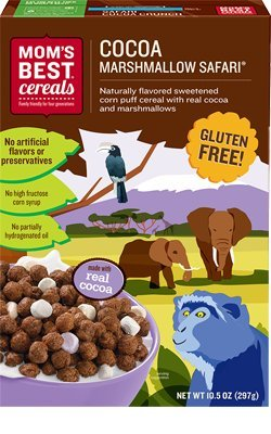 Mom's Best Cereals Cocoa Marshmallow Safari [Gluten Free] 2 Pack