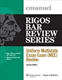 img - for Uniform Multistate Essay Exam (MEE) Review, Second Edition (Rigos Bar Review Series) book / textbook / text book