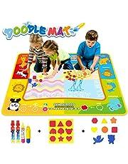 Jenilily Magic Doodle Malmatte, 120x90CM Wasser Malmatte Kids Baby Toddler Wasser Zeichnen Matte Toy Wattre Magie Stift Spielzeug Junge Mädchen Alter 2 3 4 5 6 Jahre alt