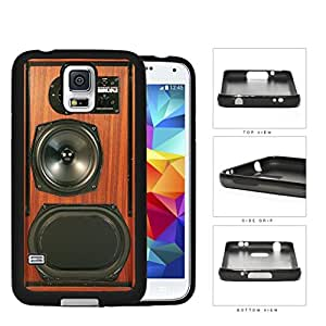 Retro Brown Wood Speakerbox Rubber Silicone TPU Cell Phone Case Samsung Galaxy S5 SM-G900