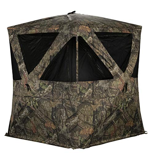 Rhino Blinds R300-MOC 3 Person Hunting Ground Blind, Mossy Oak Breakup Country