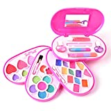 Deardeer Kids Makeup Set Girls Fashion Cosmetics Make up Toys Safety Tested Vanity Beauty Set with Inner Mirror Washable