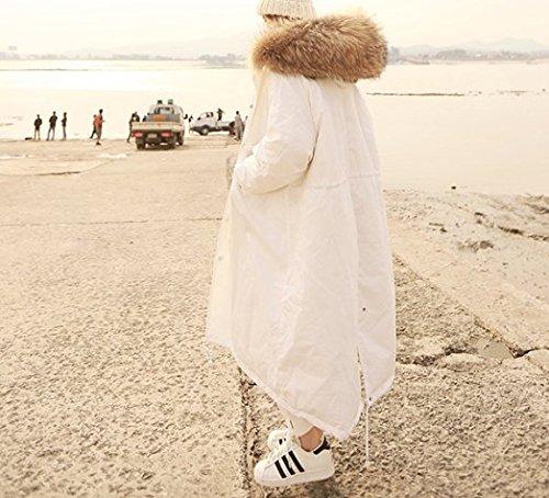 Xuanku Cotton Coat Wool Shirt Coat Thick Sleeve Cotton Cloth Coat Cotton Top White