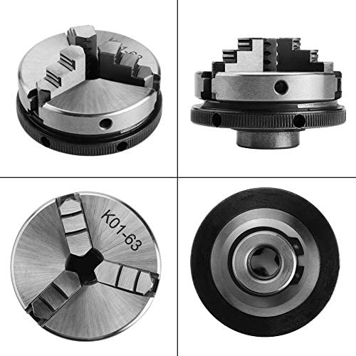 Wacent Manual Self-Centering Lathe Chuck, Processing Durable Tool&Accessories 1pc 3-Jaw K01-63/M14 for Woodworking