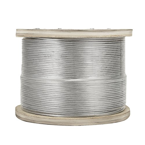 "LOVSHARE 1/8"" 1000FT Wire Rope T316 Stainless Steel Cable Railing 1x19 Strand Core Cable ()"