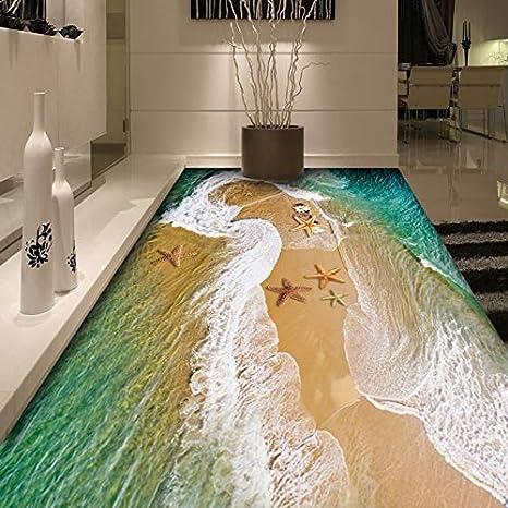 BZDHWWH Kundenspezifische Meer Wasser 3D Bodenwand ...