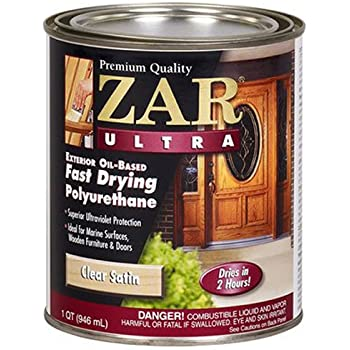 Zar 34107 spray satin ultra exterior polyurethane spray 11 ounce household varnishes for Zar exterior water based polyurethane