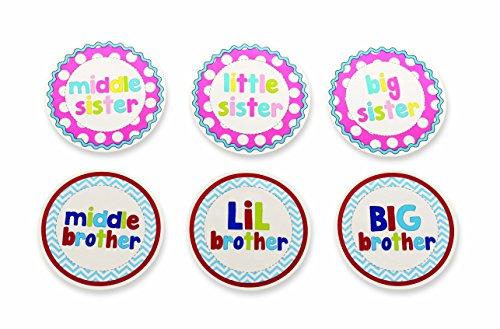 - Mud Pie Milestone Stickers, Sibling