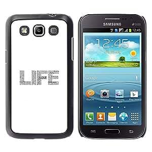 TopCaseStore / la caja del caucho duro de la cubierta de protección de la piel - Glitter Grey White Sparkle - Samsung Galaxy Win I8550 I8552 Grand Quattro