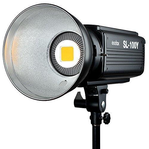Godox SL100Y 100Ws 3300K カメラ の DVビデオカメラの LED ビデオライト スタジオ の連続ランプ   B078M7Q4JK