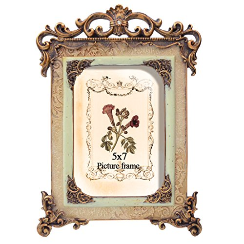 PETAFLOP 5x7 Retro Picture Frame Made to Display Pictures ()