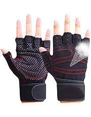 CESHMD Sporthandschoenen, halve vingers, ademend, gewichtheffen, fitnesshandschoenen, halter, mannen, vrouwen, gym, handschoenen