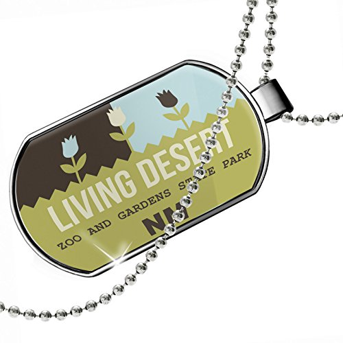 Dogtag US Gardens Living Desert Zoo and Gardens State Park - NM Dog tags necklace - Neonblond