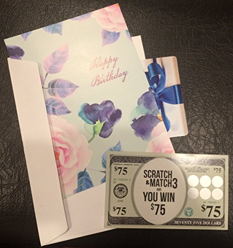 Gag Gift Card Ticket - Fake Lotto Design - Fun Way to Give a $75 Gift Card (Pair with $75 Gift Card)