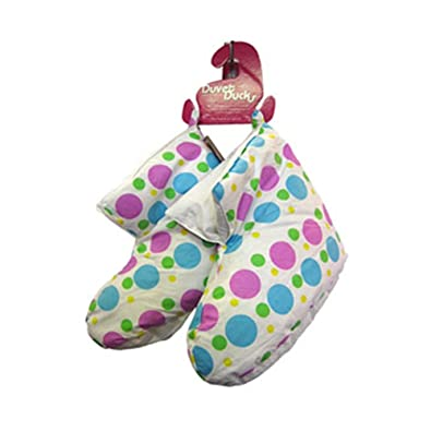 0737857a7d7 Childrens white with multi spots Duvet Duck Slippers  Amazon.co.uk  Shoes    Bags