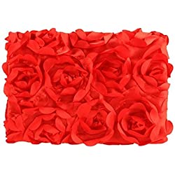 NFT Baby Photography Props Newborn 3D Rose Flower Photo Backdrop Blanket Rug (Red)
