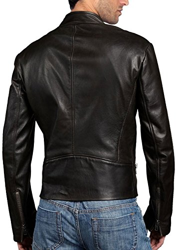 Black Leather Junction Leather Giacca Junction Uomo Giacca Giacca Uomo Leather Junction Uomo Black FfHw7