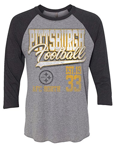 (Zubaz NFL Pittsburgh Steelers Men's 3/4 Raglan Tee, Medium,)