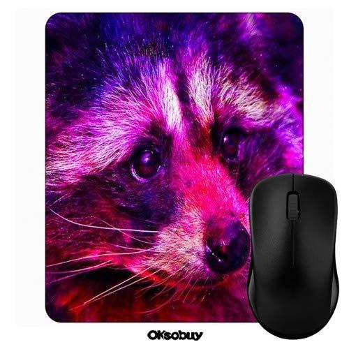 Art Colorful Raccoon Mouse Pad Oksobuy Custom Design,European City Landscape Mouse pad Gaming Mousepad Nonslip Rubber Backing