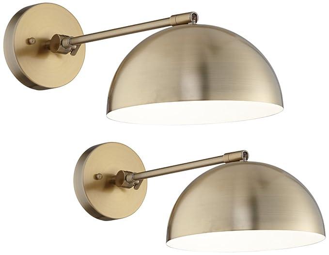 Brava antique brass down light wall lamp set of 2 amazon brava antique brass down light wall lamp set of 2 aloadofball Images
