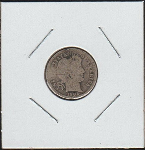 1903 O Barber or Liberty Head (1892-1916) Dime Very Good