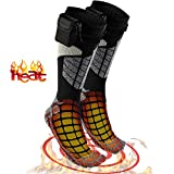hand and foot warmers electric - Heated Electric Warm Thermal Socks – Battery Operated Winter Foot Warmers For Adults Men & Women, Warming Socks Get Toes Warm In Cold Weather Outdoors Or Indoors - Patterns and Colors Will Vary