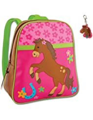 Stephen Joseph Girl Horse Backpack with Zipper Pull - Kids Book Bags
