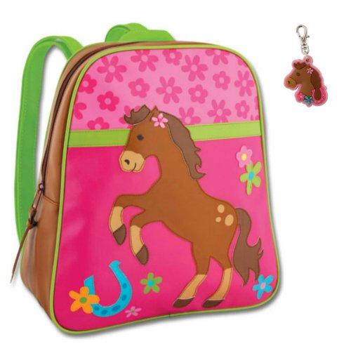 Stephen Joseph Toddler Backpacks - Stephen Joseph Girl Horse Backpack with Zipper Pull - Kids Book Bags