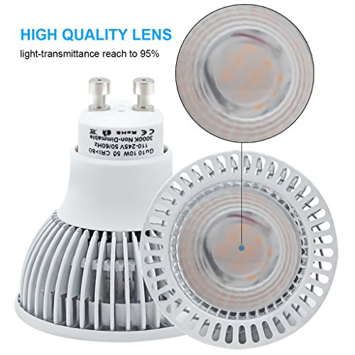 Mr16 Gu10 Led Bulbs Dimmable 7w 50w Equivalent 3000k: KINDEEP MR16 GU10 LED Spotlight Bulb For Kitchen Track