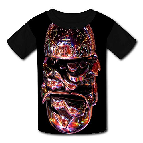 Multicolored Glare Burger Child Short Sleeve Fashion T-Shirt of Boys and Girls M ()