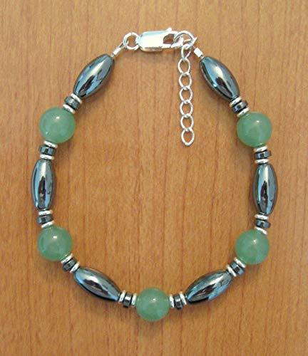 Green Aventurine & Hematite Adjustable Bracelet