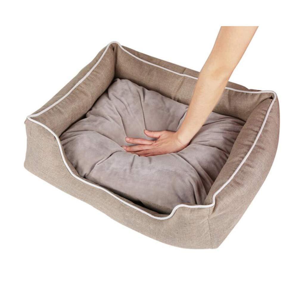 S FERZA petsuppliesmisc All Pet Solutions Warm Luxury Dog BedHound Comfort BedLight Brown (Size   S)