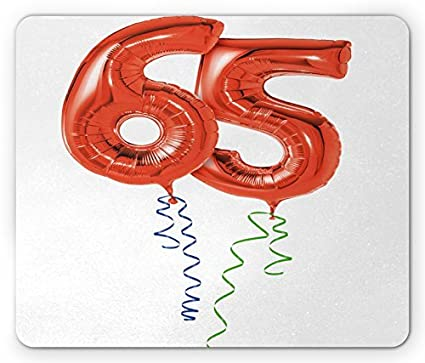 Amazon 65th Birthday Mouse Pad Balloons For Age Sixty