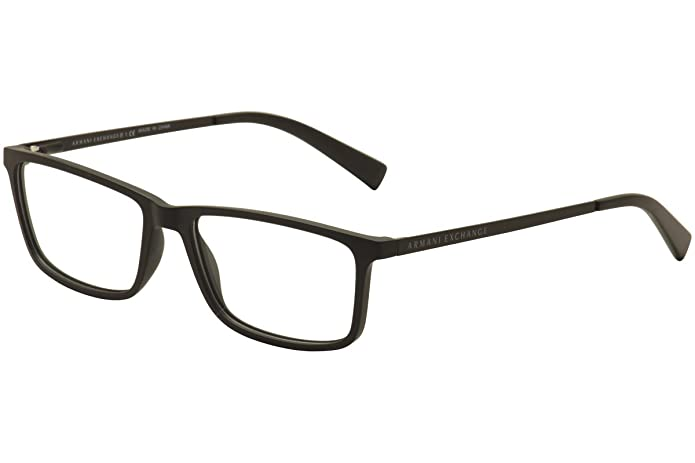 f90bb30aa8 Amazon.com  Armani Exchange AX3027 Eyeglass Frames 8078-55 - Matte Black  AX3027-8078-55  Shoes