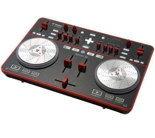 Vestax Typhoon USB DJ MIDI Contoller with Audio IO DJ Software Computer Controller & I/O Package