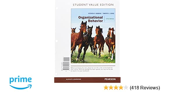 Amazon organizational behavior student value edition 17th amazon organizational behavior student value edition 17th edition 9780134182070 stephen p robbins timothy a judge books fandeluxe Image collections