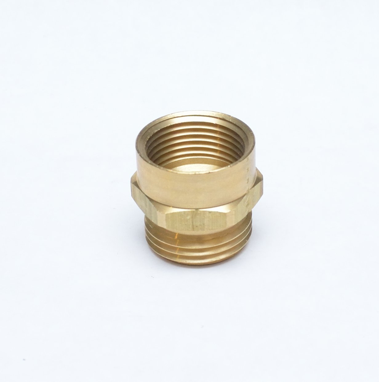 """FASPARTS 3/4"""" Female NPT FPT FIP to 3/4"""" Male GHT Garden Hose Thread Adapter Brass Fitting Fuel/Air/Water/Boat/Gas/Oil WOG House/Boat/Lawn/Power Wash/Irrigation"""