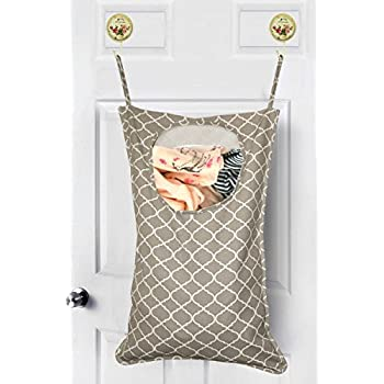 Amerzam Laundry Hamper,Cotton Canvas Hanging Laundry Hamper Bag For  Closets, Dorms, Travel