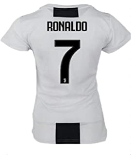 terfgrt Juventus Ronaldo # 7 Soccer Jersey 2018-2019 Home Womens Jersey White(S