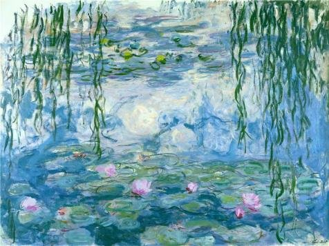 The Polyster Canvas Of Oil Painting 'Water Lilies, 1916-1919 By Claude Monet' ,size: 30x40 Inch / 76x102 Cm ,this High Resolution Art Decorative Canvas Prints Is Fit For Bathroom Gallery Art And Home Decor And (Costume Rental Tampa)