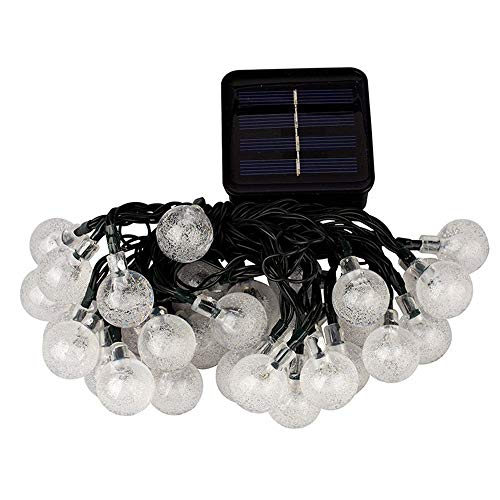 Sayolala Solar String Light Crystal Globe Ball Waterproof for Garden Outdoor Table Umbrella Outdoor String Lights