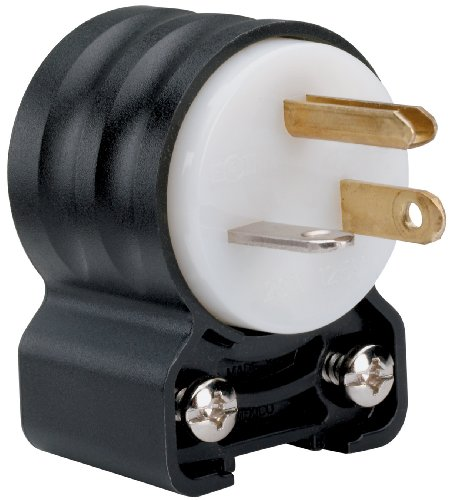 Pass Seymour Electrical - Legrand - Pass & Seymour PS5366SSANCCV4 Straight Blade Angled Plug Three Wire 20-Amp 125-volt Easy Install