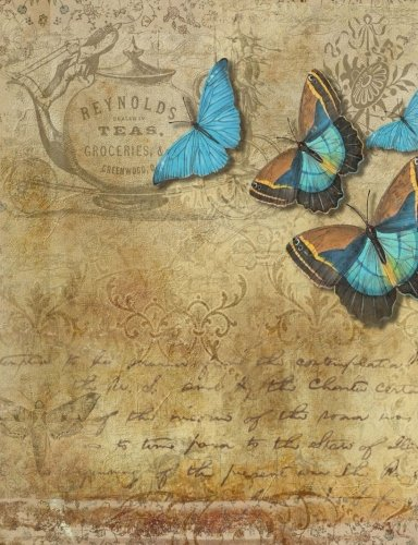 Download Butterflies, Tea, and Love Letters Composition Notebook 7.44x9.69 Story Paper: Blank Story Paper for Notes, Bullet Lists, Sketches, Thoughts, Doodles, Designs, and Plans. Exercise Book or Journal. ePub fb2 ebook