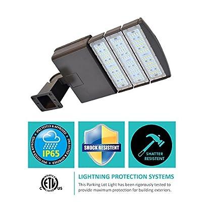 Shoe-box 150w LED Parking Lot Light Fixture ETL DLC approved Philis LED chips
