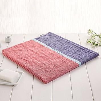 ZYJY decoración del hogar ZYJYConjuntos de toalla de baño algodón hombres y mujeres niños toallas de baño sin pelo toalla de baño 72 * 140cm,Azul marino: ...